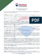 Contrato de Prestación de Servicio - Venta en EXCLUSIVA