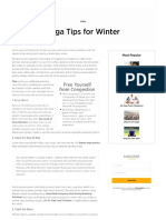 Yoga Tips for Winter _ the Art of Living _ the Art of Living Global
