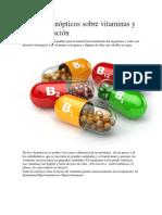 Cuadros Sinópticos Sobre Vitaminas y Su Clasificación