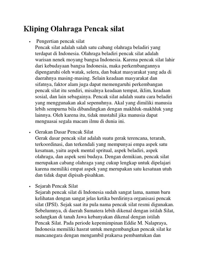 Doc Makalah Pencak Silat Salma Hanifah Prameswari Academia Edu