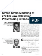Stress-Strain Modeling of 270 Ksi Low-Relaxation Prestressing Strands
