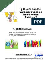 Cuales Son Las Características de Los Servicios publicos