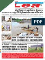 Periódico Lea Martes 06 de Febrero Del 2018