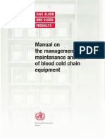Manual on Management,Maintenance and Use of Blood Cold Chain Equipment Copy