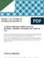 4.4 Red de Carreteras en Mexico