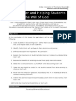 The Teacher and Helping Students Discover the Will of God