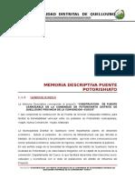 Memoria Descriptiva Puente Potorishiato