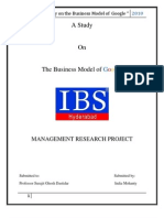 Project on business model of Google