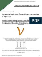 Proposiciones Compuestas (Disyunción « Matemáticas Discretas-unidad 3-Lógica Matemática