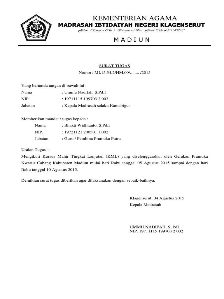 Surat Tugas Kml