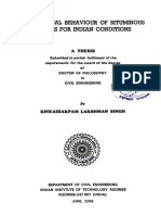 Rheological Behaviour of Bituminous Binders for Indian Conditions (June 06)