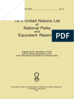 1973 UN List National Parks, UICN