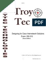 200-310 Exam-Designing for Cisco Internetwork Solutions