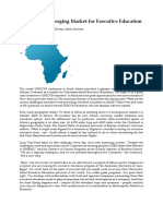 Africa as an Emerging Market for Executive Education