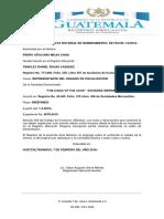 Razonamiento de Acta Notarial de Nombramiento 2