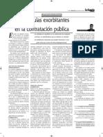 Las Cláusulas Exorbitantes en La Contratación Pública - Autor José María Pacori Cari