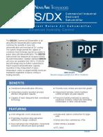 Dehumidifier DESDX Tech Data