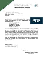 Endorsement Letter Acot