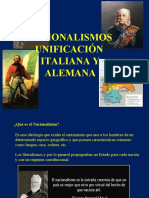Nacionalismos y Unificación Italiana y Alemana