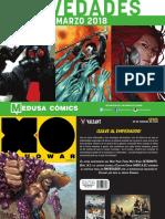 Novedades de Medusa Cómics - Marzo 2018
