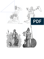 Dioses Romanos Para Colorear