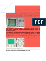 OSCILOSCOPIO Analiz Espectro Etc