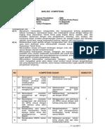 Analisis Kompetensi analisis Kimia Dasar