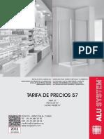 Alusystem Tarifa 57 2015