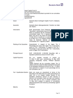 Deutsche Bank Contingent Capital Trust IV ISIN DE000A0TU305