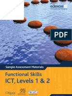 Functional Skills SAMs ICT Level 1 2 Booklet 2010