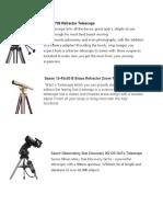 Saxon 705 Refractor Telescope
