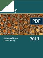 Turkey Health & Demographic Survey 2013