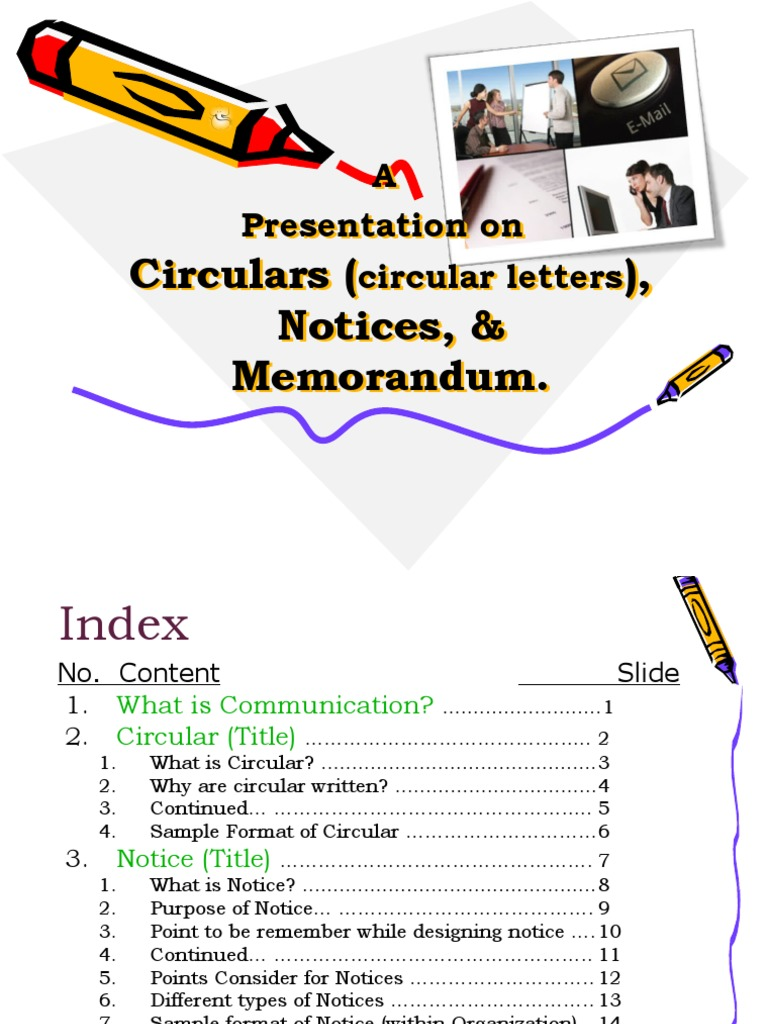 Circulars Circular LettersNoticesMemo – Inter Office Communication Letter