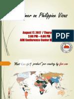 Primer on Philippines Visas