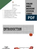 CDDS (Colon Drug Delivery System)