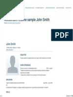 Accountant-resume-sample1 _ John Smith • Great Sample Resume
