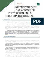 Máster Universitario mundo clasico Uned