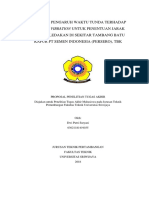 Evaluasi Pengaruh Waktu Tunda Terhadap Blasting Vibration Untuk Penentuan Jarak Aman Peledakan Di Tambang Batu Kapur Pt Semen Indonesia (Persero), Tbk