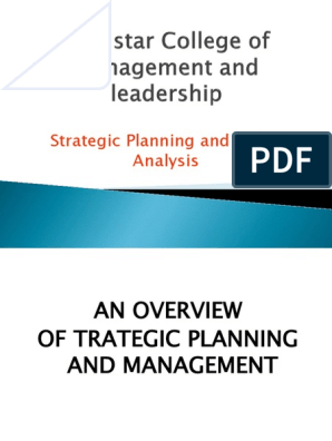 Strategy New | Strategic Management | Strategic Planning