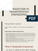 1. Transportation Engineering and Principles
