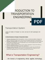 1. Transportation Engineering and Principles