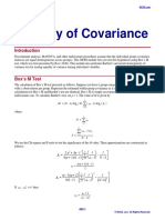 Equality of Covariance-1
