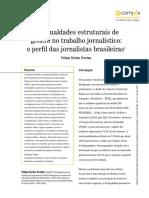Desigualdades Estruturais de Gênero No Trabalho Jornalístico