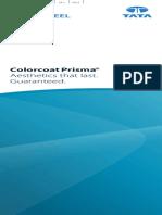 Colorcoat Prisma Colour Card