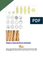 Clases y Tipos de Pan en Venezuela Jose