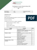 Programa Analítico Da Disciplina de Corrosão e Proteção Dos Metais