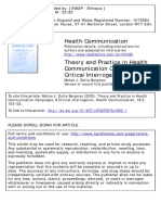 Theory and Practice in Health Communication Campaigns
