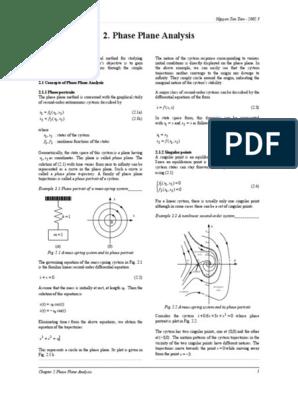 C 2 Phase Plane Analysis pdf | Nonlinear System