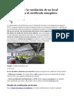 Calculo de Ventilacion de Un Local ,Certificado Energetico.