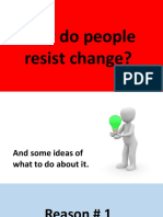 Reasons for resisting change